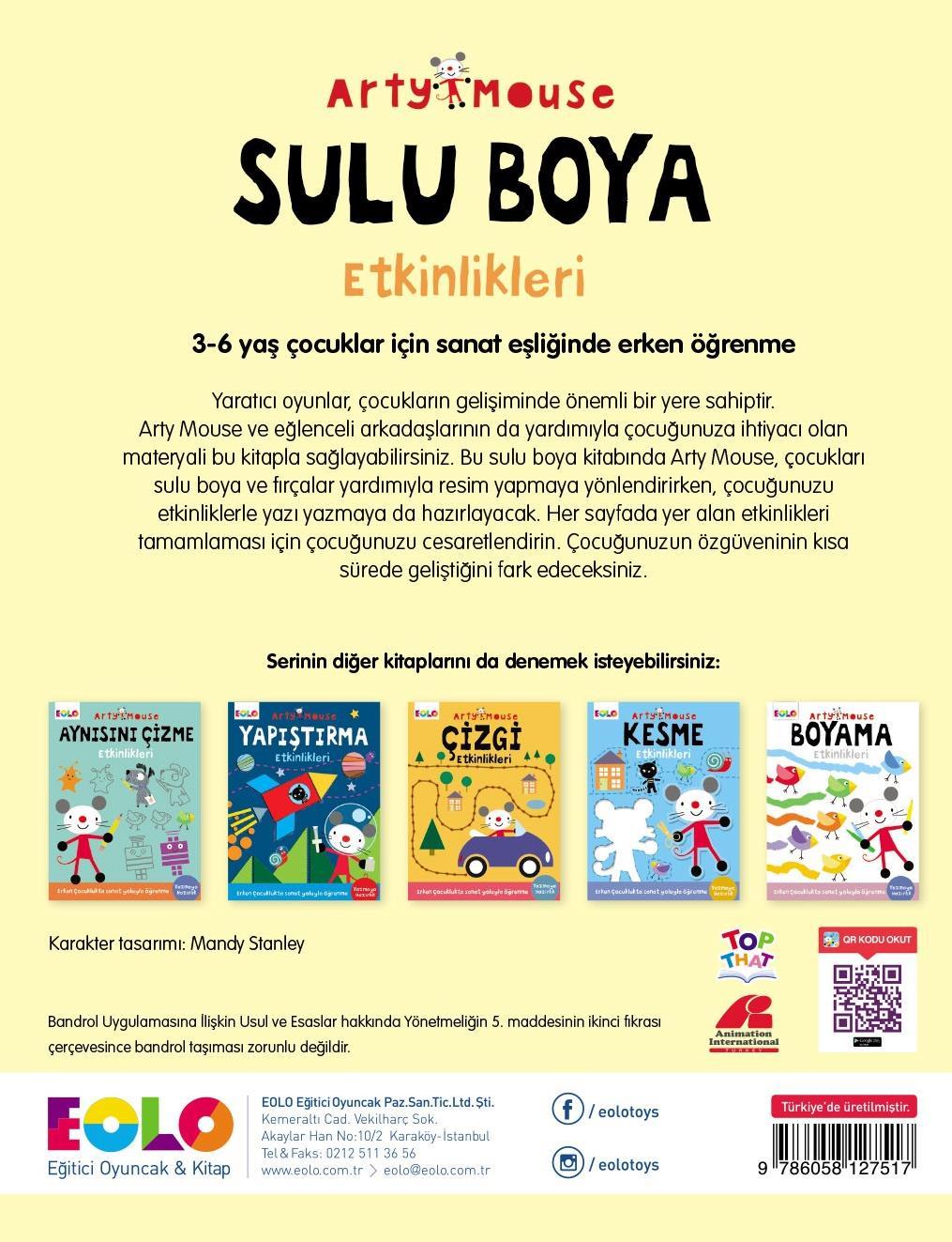 Eolo Arty Mouse Sulu Boya Etkinlikleri Akil Akademi